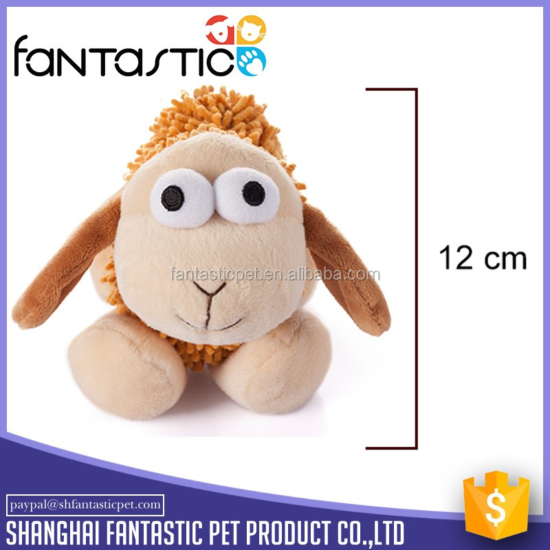 Wholesale squeakers soft sheep plush dog toy