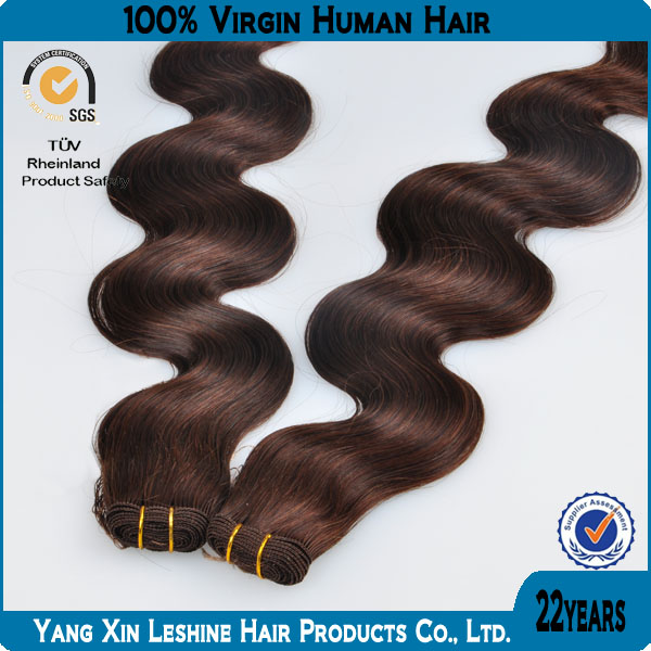 Best sale 2014 100%human remy virgin double sewn Brazilian 99J Wholesale Cheap Body Wave Hair Weaving