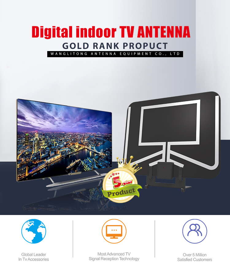 2018 New arrival to buy the best indoor home digital hd tv antenna