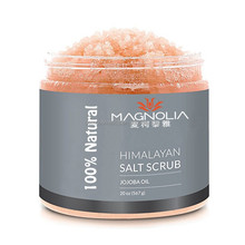 Whitening Himalayan Salt Body Scrub with Lychee Essential Oil for Face and Body Massage