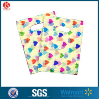 100% Virgin Raw Material and Ink Coverage Full Color Printed Die Cut Patch Handle Plastic Bags for Shopping