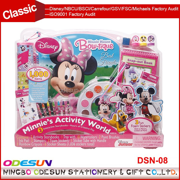 Disney Universal NBCU FAMA BSCI GSV Carrefour Factory Audit Manufacturer New Minnie Stationery Products Set