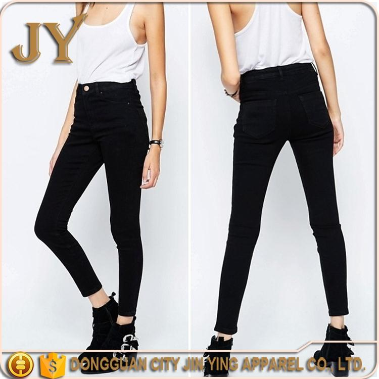Clothing Manufacuter High Waist Jeans New Style Jeans Pent Girl Tight Jeans China Export Products