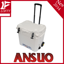 2014 NEW, with wheels and trolley, 45L plastic cooler box