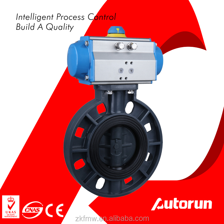 PVC Plastic Butterfly Valve with Pneumatic Actuator