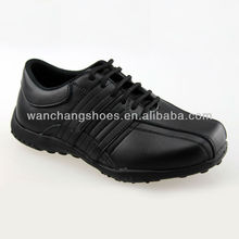 Hot black children school shoes leather shoes for boy