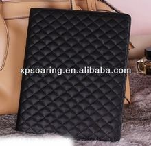 High quality leather case pouch for ipad air quilt skin