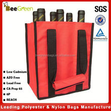 Wholesale 600D Polyester 6 pack wine bag
