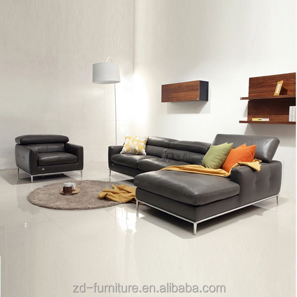 2015 Top Grain Leather Sofa Modern Design High Quality
