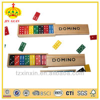 colorful wooden domino with wooden material kids gift with BSCI