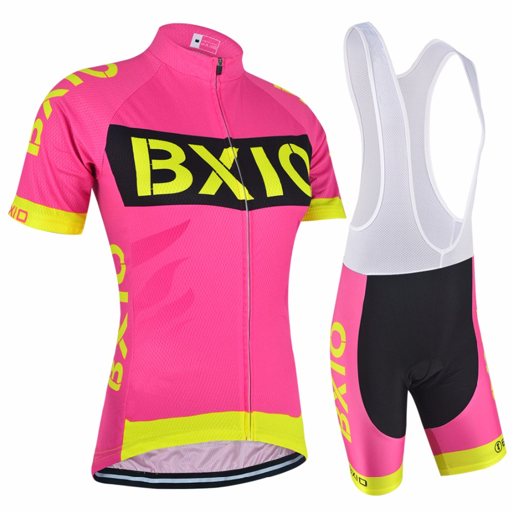 BXIO Brand New Arrival Cycling Set Maillot Road Bicycle Jersey Clothing With Cycling Bib Shorts BX-0209R147
