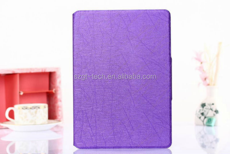 Newest arrival luxury for ipad air 2 folding leather standing case
