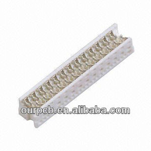 1.27 Picoflex Header, IDC Connector, Tin Plated, PBT White, UL