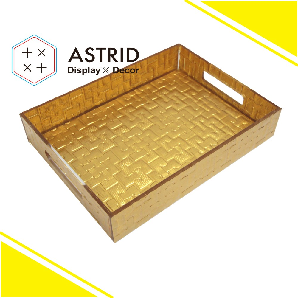 AAZ050T1G Gold Acrylic Desk Organizer File Tray for office