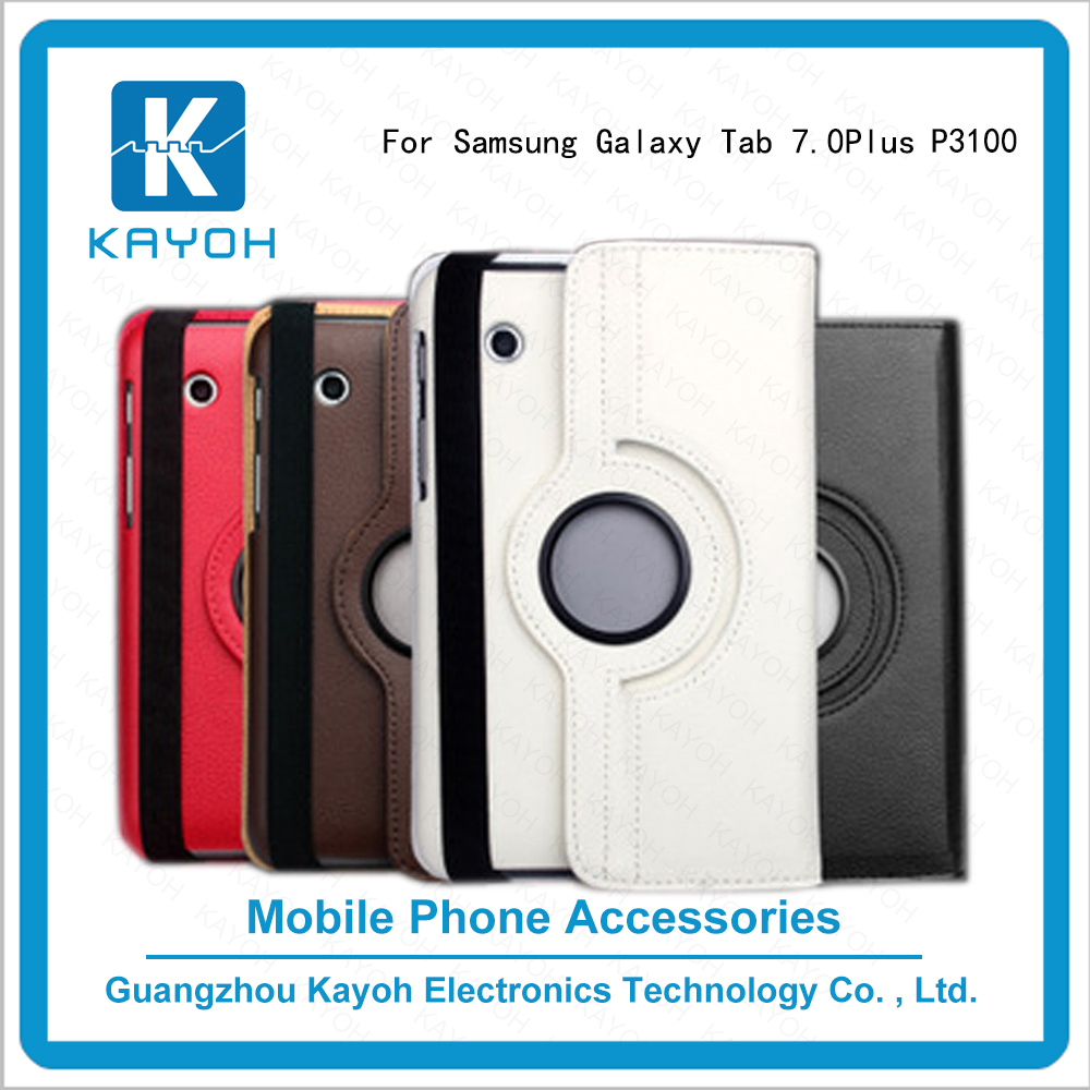 [kayoh]High Quality rotating 360 degree design your own phone case Mobile Phone Case For Samsung Galaxy Tab 2 P3100