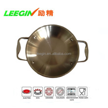 Hot Sales Multi 3 Ply Stainless Steel Double Ears Fry Pan for Electric Induction Cooker