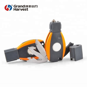 Survival essential multi tool camping gifts knife for car with glass breaker