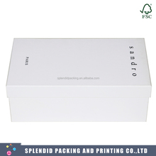 China Supplier Custom Logo Luxury Paper Shoe Box with Super White Kraft Paper