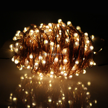 8 function 30m 50m solar powered copper wire fairy starry christmas led string light
