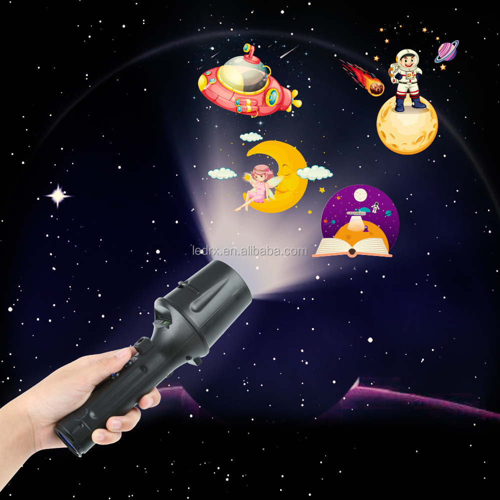 Multiple Patterns Children LED Projector Flashlight for Christmas