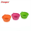 High quality Silicon Traveling Plastic Folding Dog Bowl,