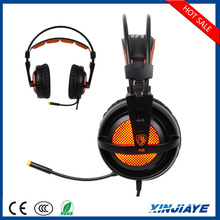 Factory Price SADES A6 Wired USB HiFi Stereo Surround Sound Vibration Gaming Headphones with Noise Isolating LED Lights for PC