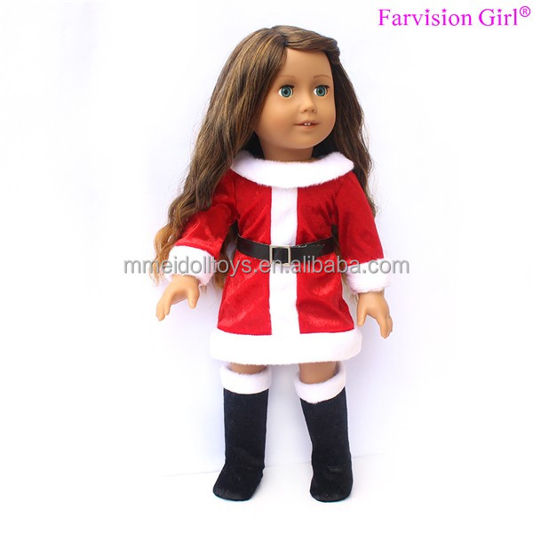 Popular nude doll 18 inch santa ouftis display doll for kids