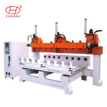 Online shop China multihead 5 axis 3D furniture woodworking cnc router machine