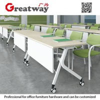 best selling high quality office furniture metal frame folding table