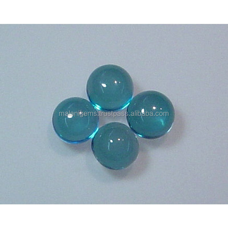 Swiss Blue Topaz Undrilled Spheres