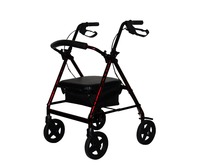 Outdoor Adjustable Easy Folding walking aids rollators walkers accessories for disabled