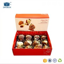 Food grade paper chocolate custom boxes for strawberries chocolate packaging