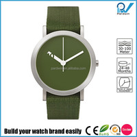 Stainless steel case nylon strap Japan quartz movement 3ATM water resistant nylon band watch advanced