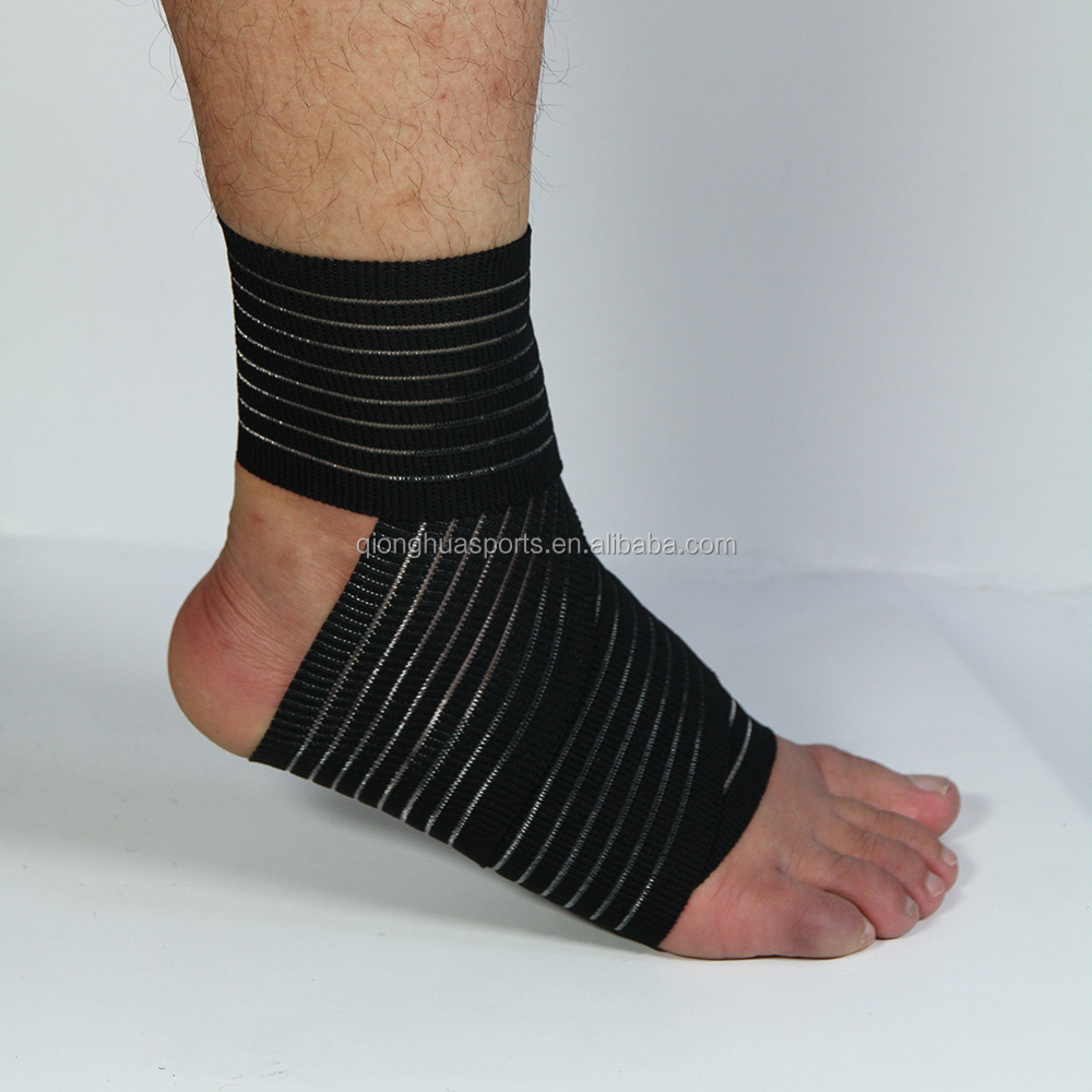 Elastic bandage ankle support sleeve brace for sprained