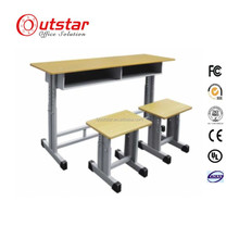 Adjustable Kids Study school Furniture Single School Student Desk