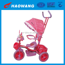 2014 New Model Pink Plastic Baby Umbrella Tricycle