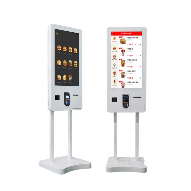 32'' Floor Standing all in one PC Touch Screen Self Service <strong>Payment</strong> Kiosk for MCD/KFC/CINEMA