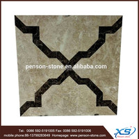 Exclusive waterjet synthetic marble tile and marble tile sparkle flooring