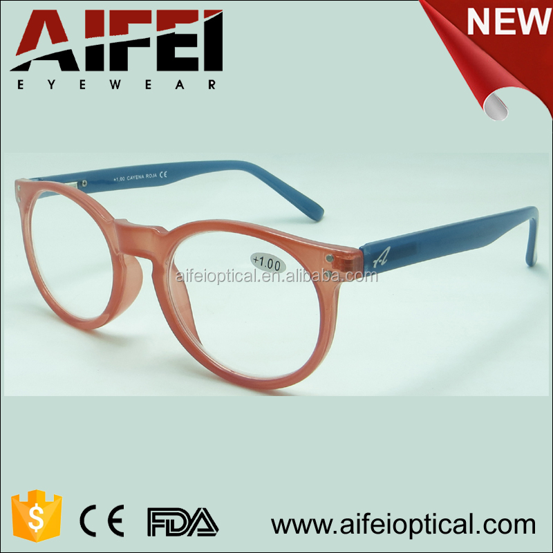 New round shape model metal spring hinge from alibaba .com plastic reading glasses