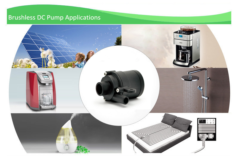 Silent Mini ABS Plastic Water Circulating Pump Submersible Brushless 12V DC Water Pump
