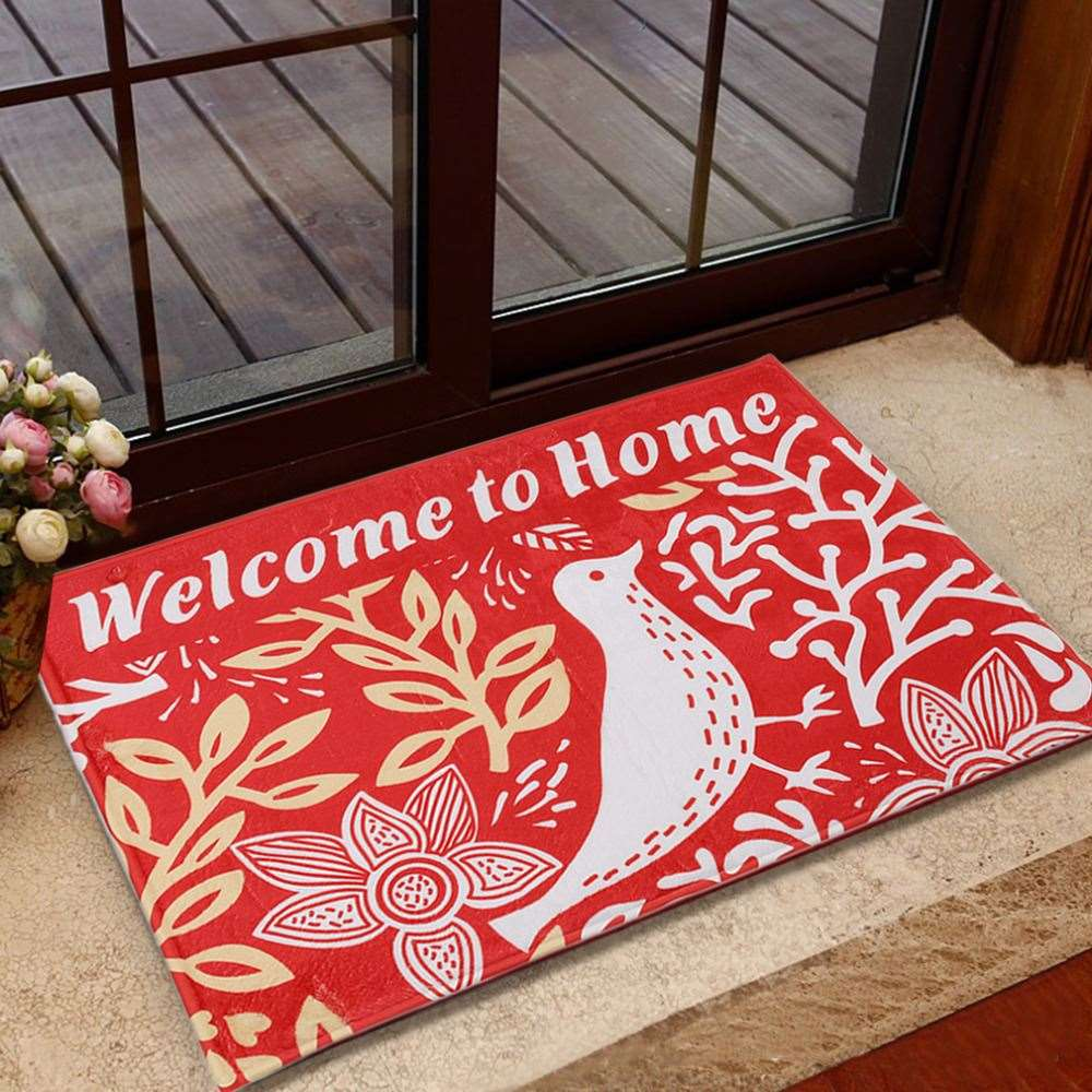 2017 High Quality Lovely Durable Home Bedroom Washable Carpet Bird Pattern Skid Resistance Water Absorption Bathroom Floor Mat