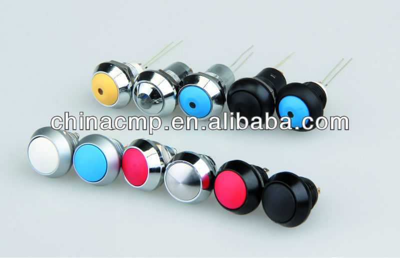CMP waterproof metal 12mm momentary or latching pushbutton switch