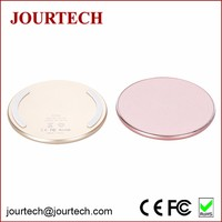 Hot selling aluminium alloy thin universal wireless charger charging pad for mobile phone