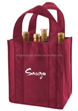 10x11x7 Polypropylene Wine Tote Nonwoven 6 Bottle Wine Bag