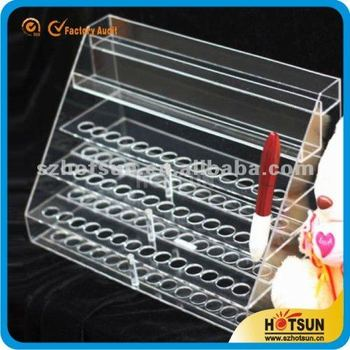 wholesales acrylic cosmetic boutique lipstick display racks