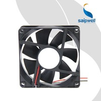 Manufacturer Saip / Saipwell New Product Ball Bearing Sleeve Bearing 12V DC Axial Fan