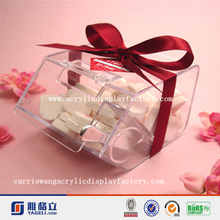 Fashion acrylic desk candy display box, storage rack for gift in China