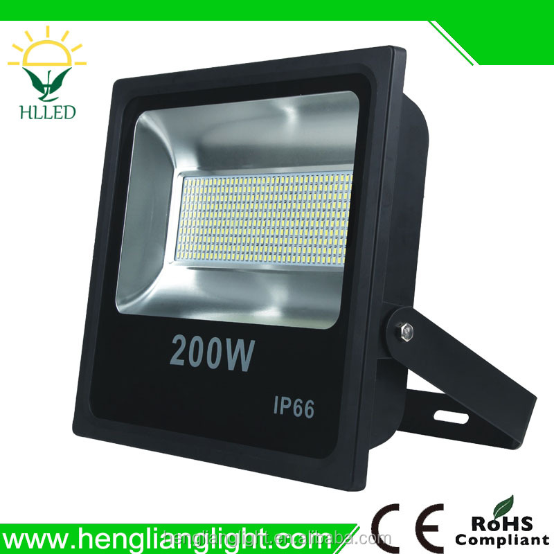 Ultra slim outdoor IP66 super bright high power SMD 100w 200w led flood light
