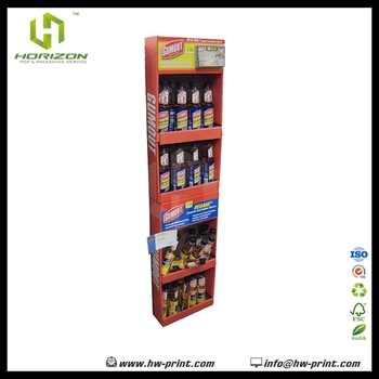 Cardboard Floor Display Stand Gumout Retail4 Layers Display