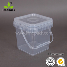 2 L clear PP plastic square bucket food grade for egg/friut/candy made in China